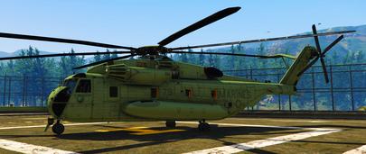Военно-транспортный тяжёлый вертолёт Sikorsky CH-53E Sea Stallion для GTA 5