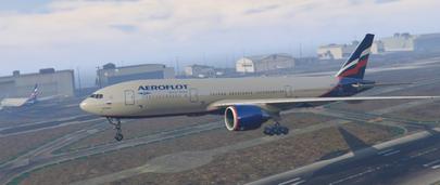 Текстура Boeing 777-200ER Aeroflot для GTA 5