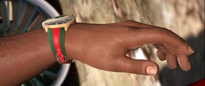 Дизайнерский браслет и часы Gucci Snake для GTA 5