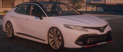 Toyota Camry V70 S-Edition 2020 года для GTA 5 спортивной серии белого цвета