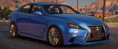 Синий Lexus IS-F Sport для GTA 5 Мод