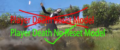 Скрипт мод ГТА 5 исправляющий сброс Add-On скинов после смерти