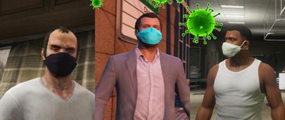 Медицинская маска от COVID-19 в GTA 5 Корона вирус