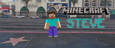 Скин Стива из Майнкрафт для ГТА 5