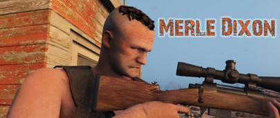 Мерл Диксон из сериала Ходячие мертвецы в ГТА 5 – Merle Dixon from The Walking Dead [Add-On Ped] 1.0