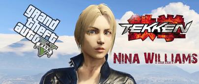 Скин GTA 5 Nina Williams [Add-on Ped] 1.0