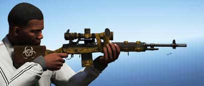 Снайперская винтовка M14 для GTA 5 Моды