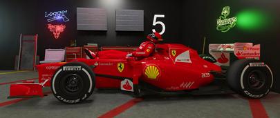 Гоночный автомобиль из Формулы-1 Ferrari SF71-H F1 2018 года выпуска для GTA 5