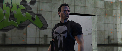 Каратель (The Punisher) для GTA 5 – качественный скин Карателя