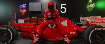 Легендарный красный костюм команды из Формулы-1 Ferrari Racing Suit для GTA 5