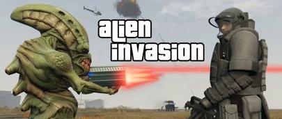 GTA 5 Alien Invasion War. Инопланетное вторжение и война с пришельцами в ГТА 5